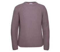 'Swift' Woll-Ripp-Strickpullover taupe