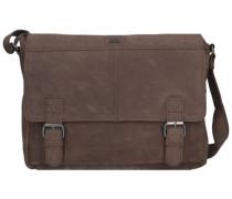 Alaska Messenger Bag Leder 36 cm Laptopfach braun