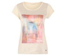 Shirt mit Arty-Print beige