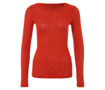 Longsleeve aus Feinstrick orange