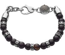 Armband braun / silbergrau / schwarz