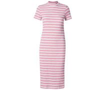 Kurzärmeliges Kleid pink