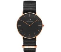 Quarzuhr 'Classic Black Cornwall Dw00100150' schwarz