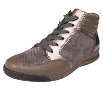 Sneaker high 'Rom-Stf' mit Lacklederdetails braun / bronze