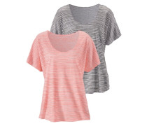 T-Shirt grau / orange