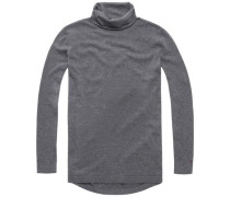 Pullover 'thdw Basic RN Sweater L/S 2' graumeliert