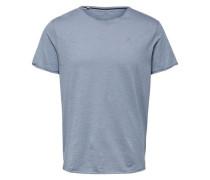 V-Ausschnitt T-Shirt rauchblau