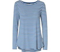 Langarmshirt blau / himmelblau / weiß