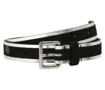 Gürtel 'Metallic' schwarz / silber