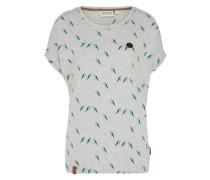 Shirt 'Girl V' graumeliert