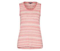 Top 'lassie Scoop Vest' rosé / weiß