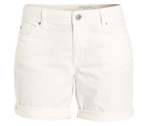 Jeansshorts mit fixiertem Beinaufschlag weiß