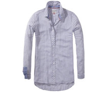 Bluse 'Basic check visc/ctn shirt l/s 5'