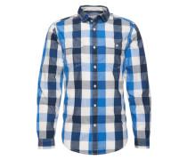 Hemd 'big slub vichy' blau / dunkelblau / dunkelgrau / weiß