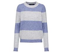 Pullover 'vmpleasent' blau / grau