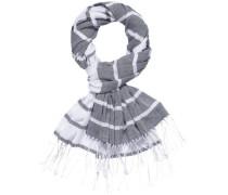 Schal 'charly STP Scarf' grau / weiß