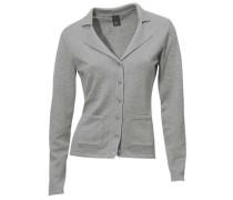 Strick-Jacke graumeliert