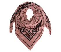 Gemusterter Schal rosa
