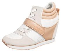 Sneakers beige / weiß