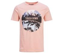 Grafik-T-Shirt helllila / rosa / schwarz