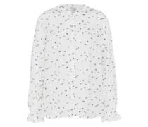 Bluse mit Print navy / offwhite