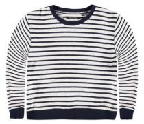 Sweatshirt langärmlig mit Ringeln blau / weiß