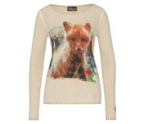 Pullover mit Tiermotiv beige