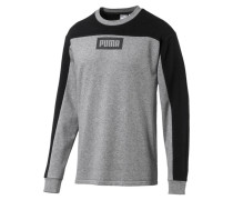 Sweatshirt 'Rebel Block Crew' grau / schwarz