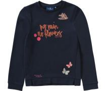 Sweatshirt mit Patches für Mädchen navy / orange