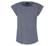 T-Shirt 'Agnes' navy / weiß