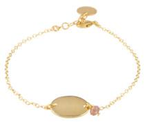 Glänzendes Armband 'Baguette' gold