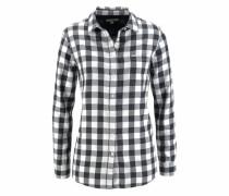 Hemdbluse schwarz / weiß