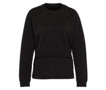Sweatshirt in Layering-Optik 'Tier' schwarz