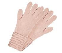 Strickhandschuhe aus Kaschmir rosa