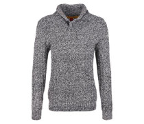 Pullover aus Musterstrick dunkelblau / weiß