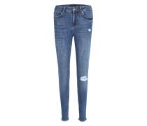 Regular-Waist-Jeans blue denim