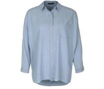 Bluse in Denim-Optik blue denim