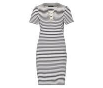 Jerseykleid im Streifendesign blau / weiß