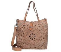 'Echinacea Shopper' Tasche 33 cm beige