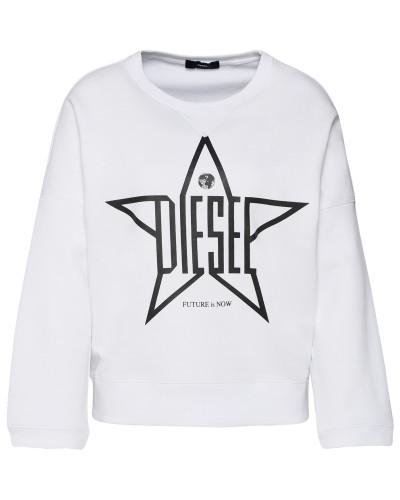 Sweatshirt 'f-Gertrude Sweat-Shirt' weiß