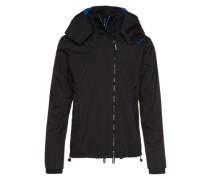 Jacke 'pop ZIP Hooded Arctic Windcheater' dunkelblau / schwarz