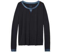 Homewear 'Modal stretch fashion bn top ls' kobaltblau