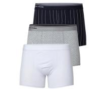 Boxershorts 3er-Pack blau / grau / weiß