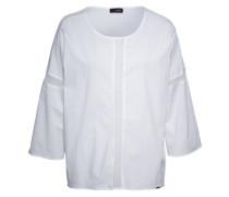 Bluse mit Netzeinsätzen 'Cipalm' weiß