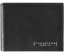 Passpartout Uomo Geldbörse Leder 11 cm schwarz