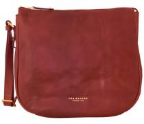 Sfoderata Luxe Donna Henkeltasche Leder 36 cm rot