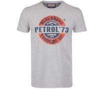 T-Shirt dunkelblau / grau / orangerot / weiß