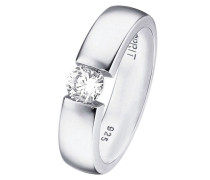Ring »ES-solitaire« silber