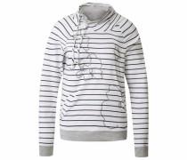 Sweatshirt 'Calvin' basaltgrau / schwarz