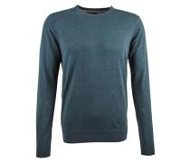 Pullover »Crewneck pull in cotton melange quality« grün